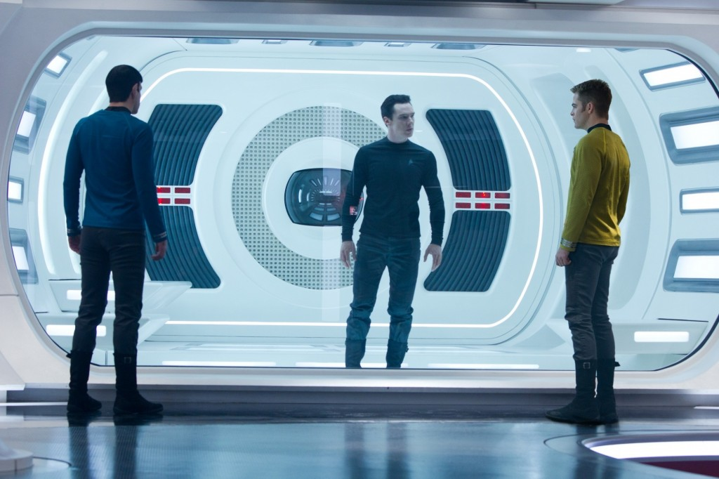 Star Trek Into Darkness mit Chris Pine, Zachary Quinto und Benedict Cumberbatch