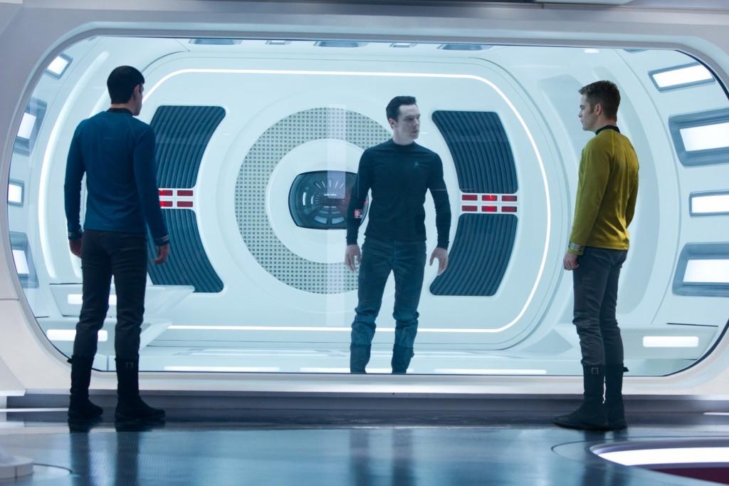 Star Trek Into Darkness mit Chris Pine, Zachary Quinto und Benedict Cumberbatch
