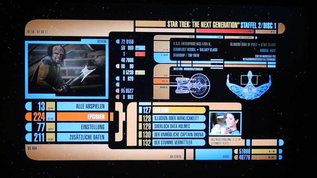 Star Trek - The Next Generation Season 2 Blu-ray Menu Foto: Star Trek-HD.de
