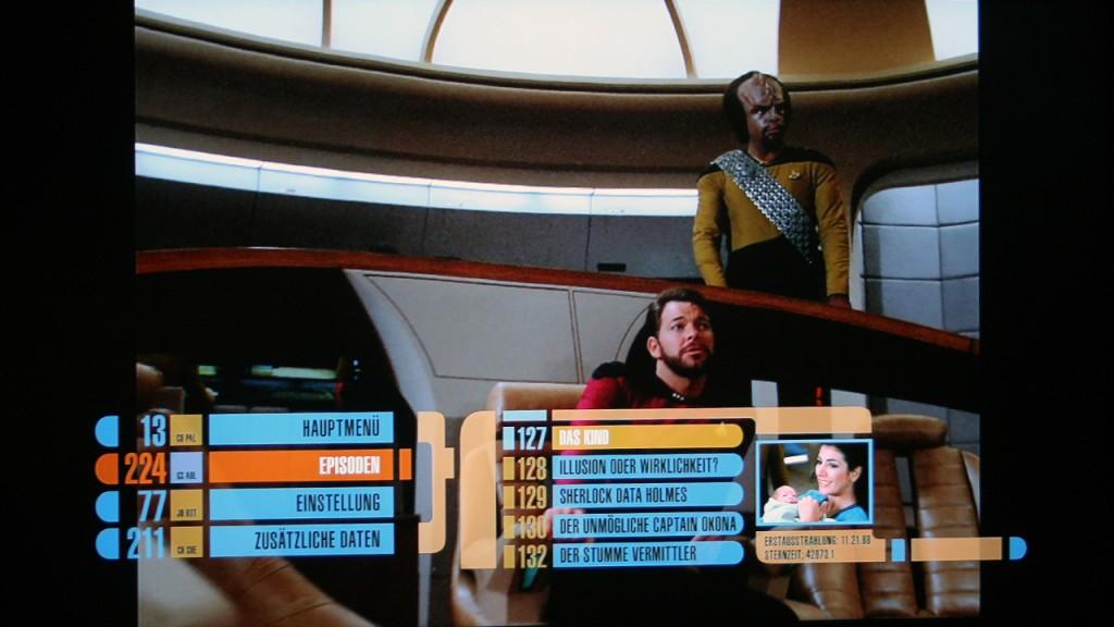 Star Trek - The Next Generation Season 2 Blu-ray Menu Foto: Star Trek-HD.de