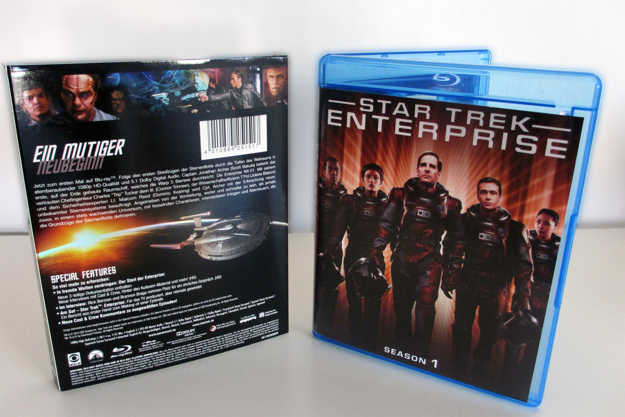 Star Trek Enterprise Season 1 Blu-ray Cover und Schuber (Quelle: StarTrek-HD.de)