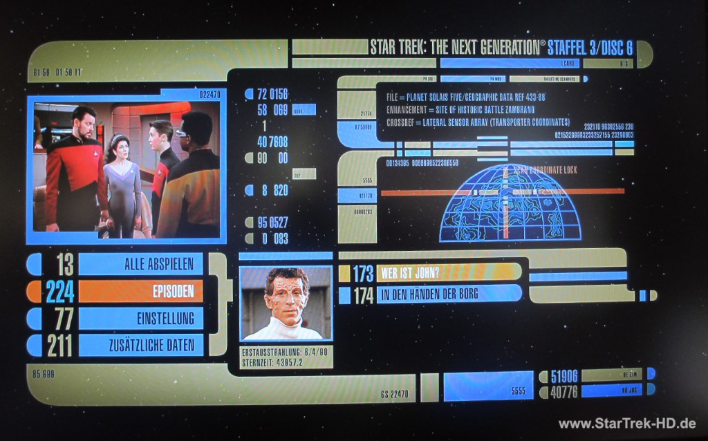 Star Trek: The Next Generation Season 3 Blu-ray Menü
