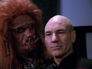 Reiner Schöne an der Seite von Patrick Stewart in Star Trek: The Next Generation (© CBS/ Paramount Pictures)
