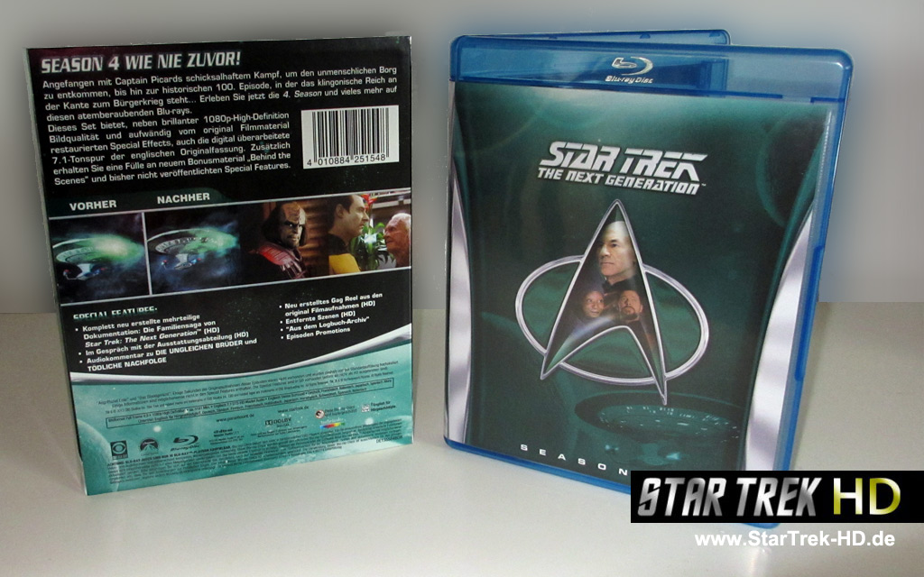 Star Trek: The Next Generation Season 4 Blu-ray Cover