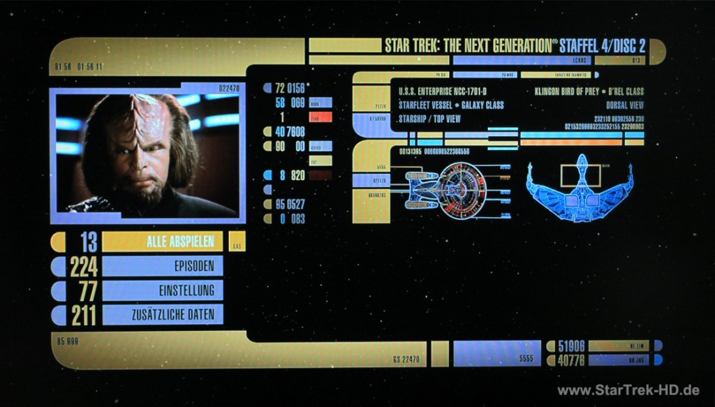 Star Trek: The Next Generation Season 4 Blu-ray Menü