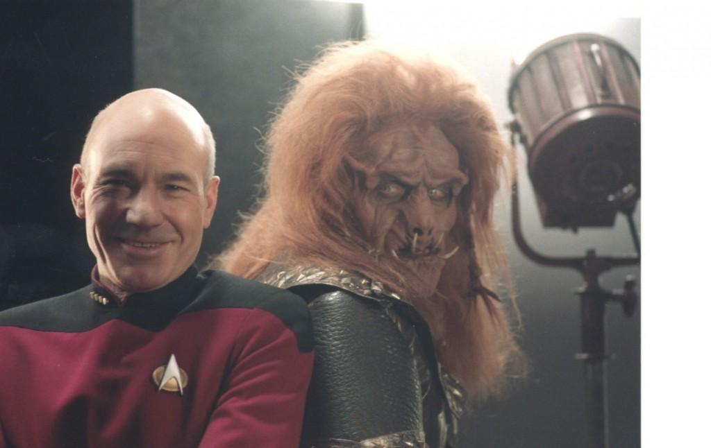 """Reiner Schöne und Patrick Stewar in """"Star Trek"""" (Foto mit freundlicher Genehmigung von Reiner Schöne)"""