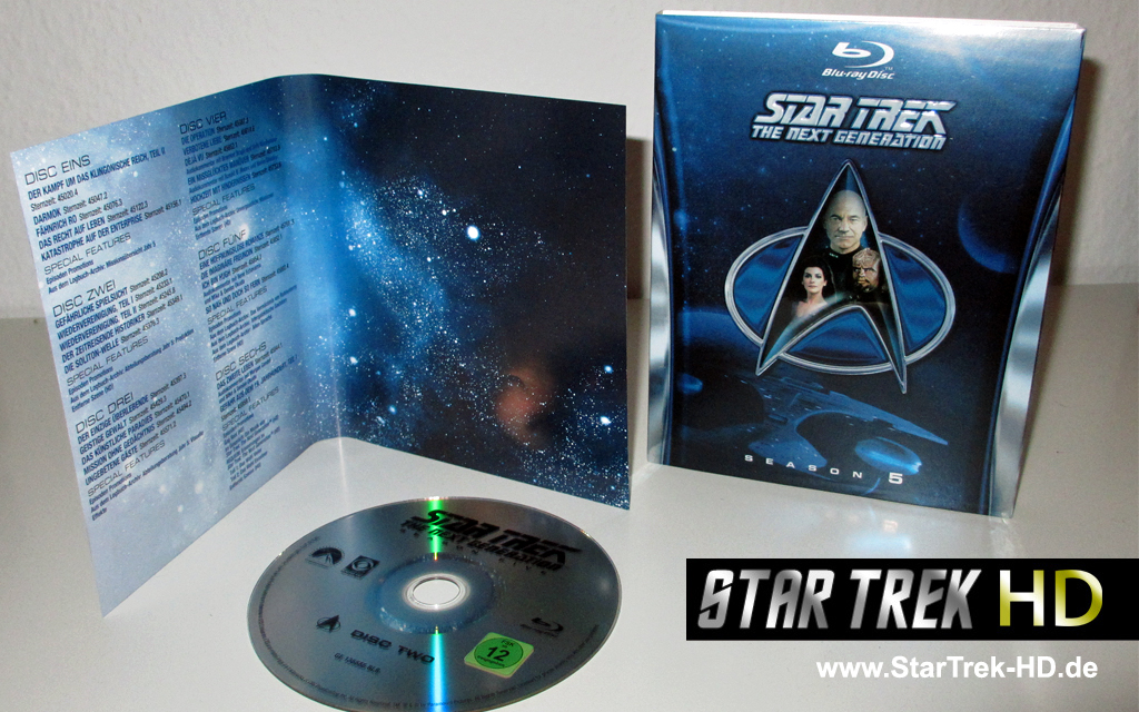 Star Trek: The Next Generation Season 5 Blu-ray Artwork