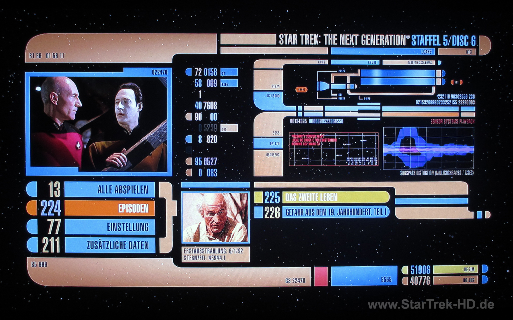 Star Trek: The Next Generation Season 5 Blu-ray Disc Menu