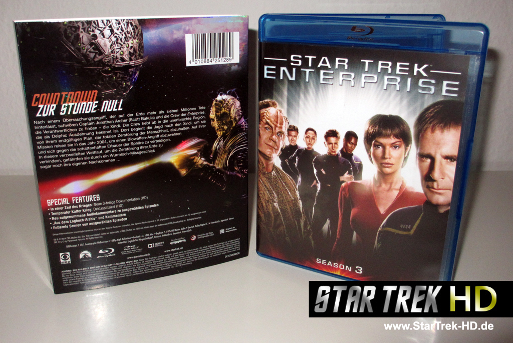 Star Trek Enterprise Season 3 Blu-ray Cover und Schuber (Foto: StarTrek-HD.de)