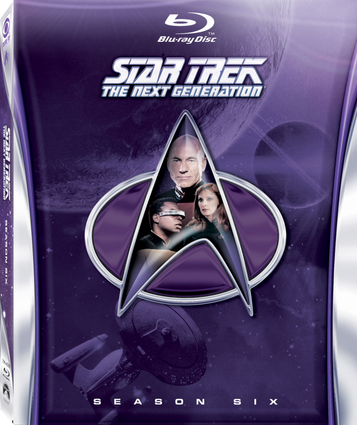 Star Trek: The Next Generation Season 6 Blu-ray Cover
