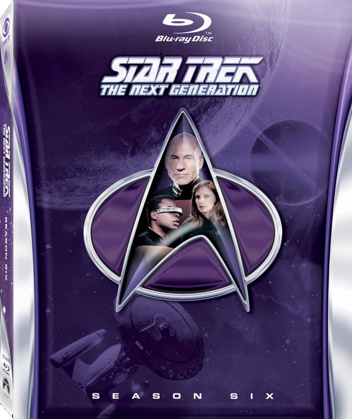 Star Trek: The Next Generation Season 6 Blu-ray Cover