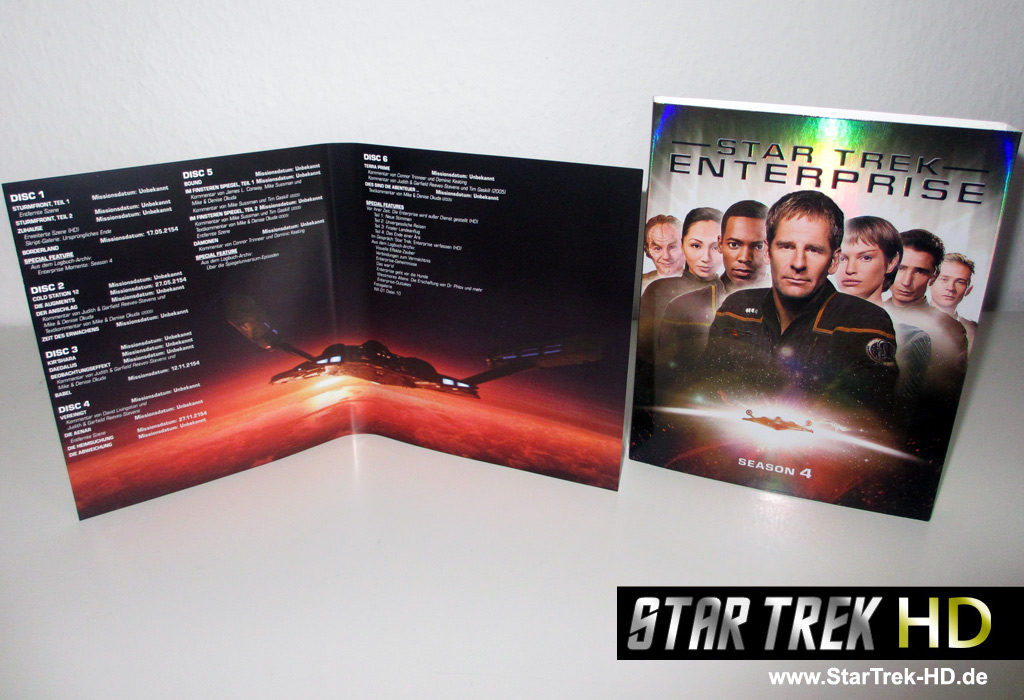Star Trek: Enterprise Season 4 Blu-ray Inlay Foto: StarTrek-HD