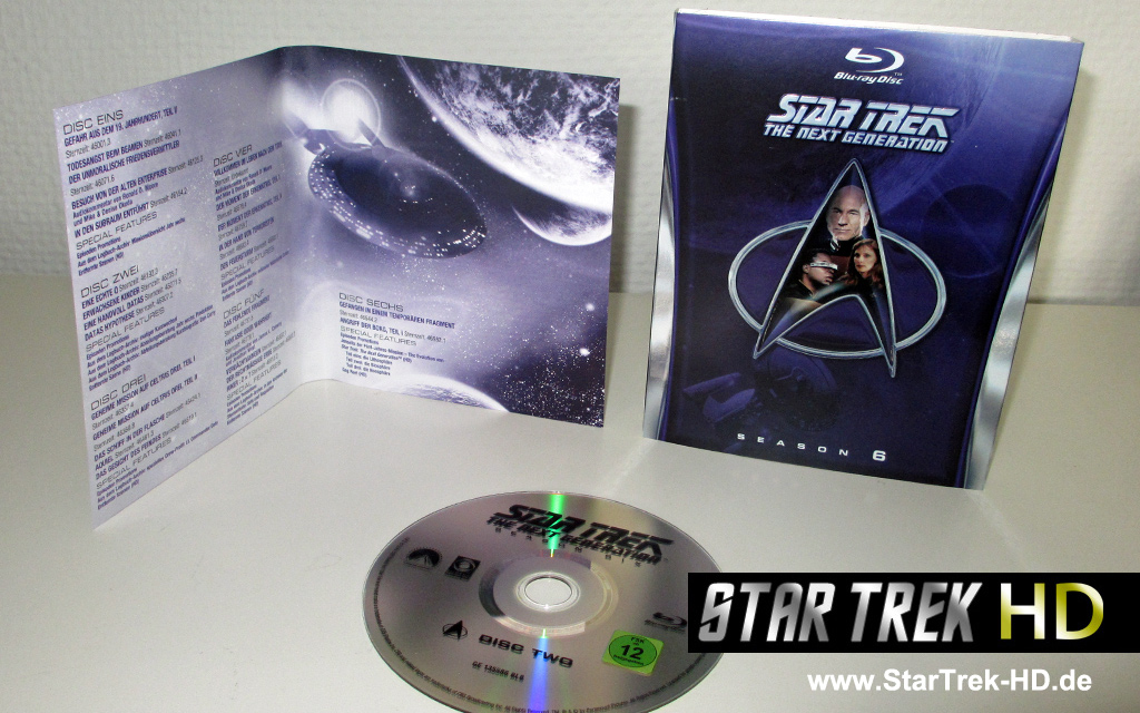Star Trek: The Next Generation Season 6 Blu-ray Artwork