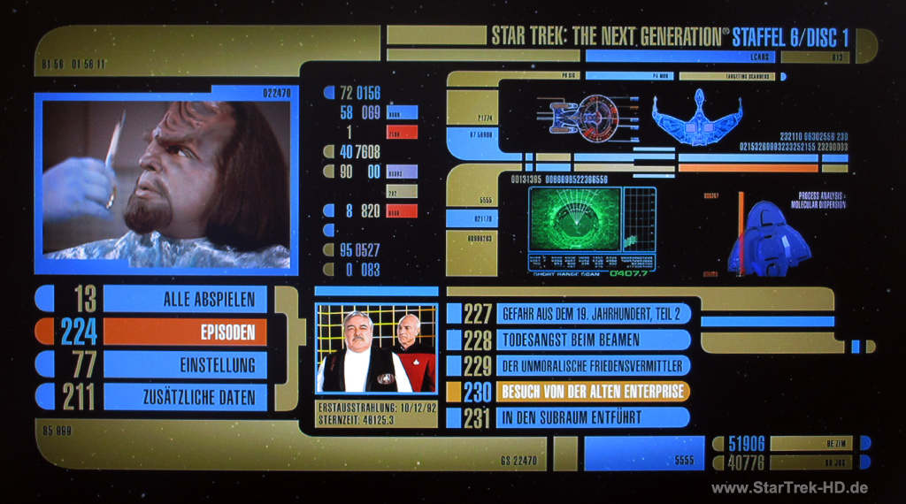 Star Trek: The Next Generation Season 6 Blu-ray Disc Menu