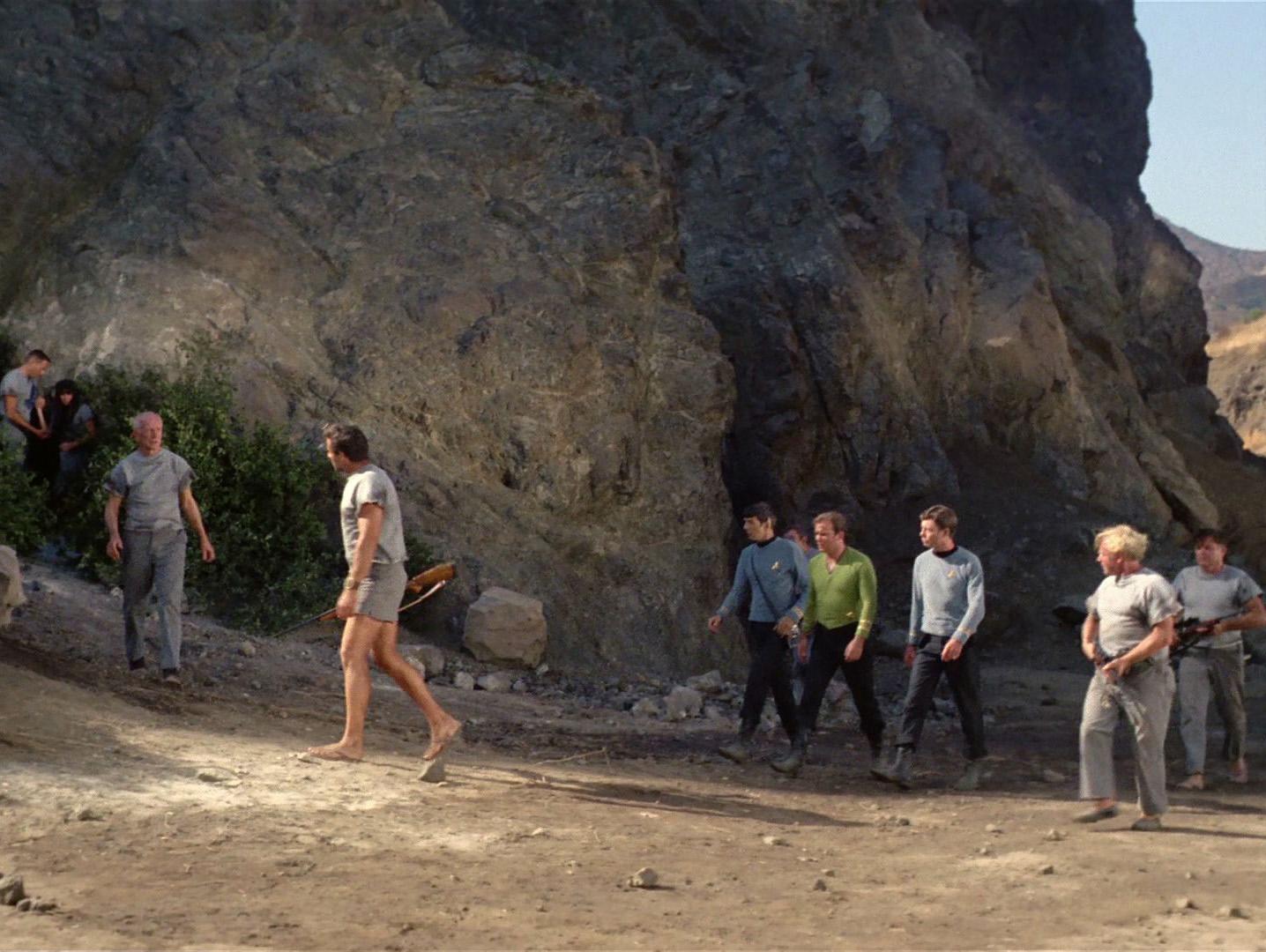 Kirk, Spock und McCoy vor den Bronson Caves. Foto: Christian Hinze