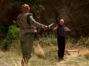 Dathon und Picard im Bronson Canyon. Foto: Christian Hinze