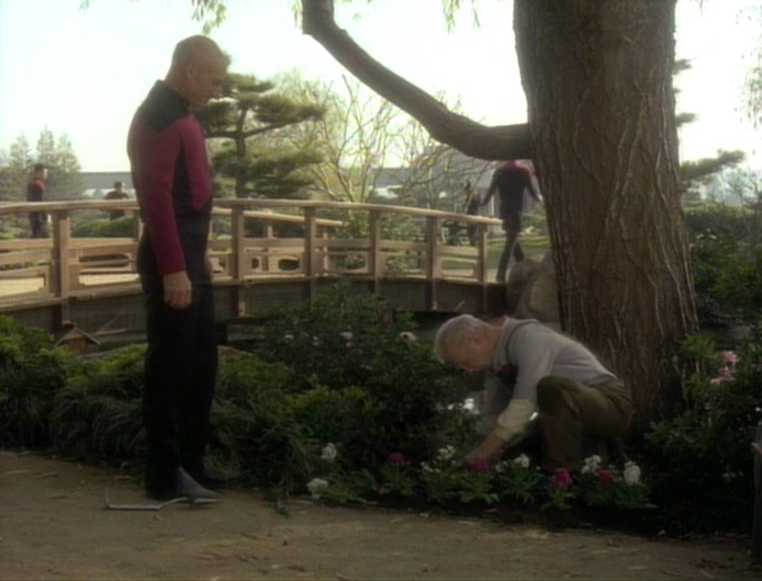 "Picard trifft auf Boothby in ""Ein missglücktes Manöver"". Screencap: Trekcore.com"