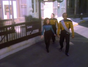 "Eine Szene aus ""Star Trek: The Next Generation"" Screenshot: Trekcore.com"