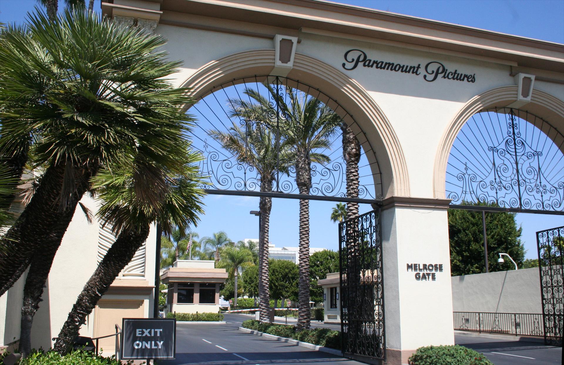 Das Melrose Gate führt auf das Gelände von Paramount Pictures. Foto: Hinze