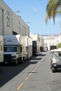 Blick auf das Wahrzeichen Hollywoods vom Gelände der Paramount Studios. Foto: Hinze