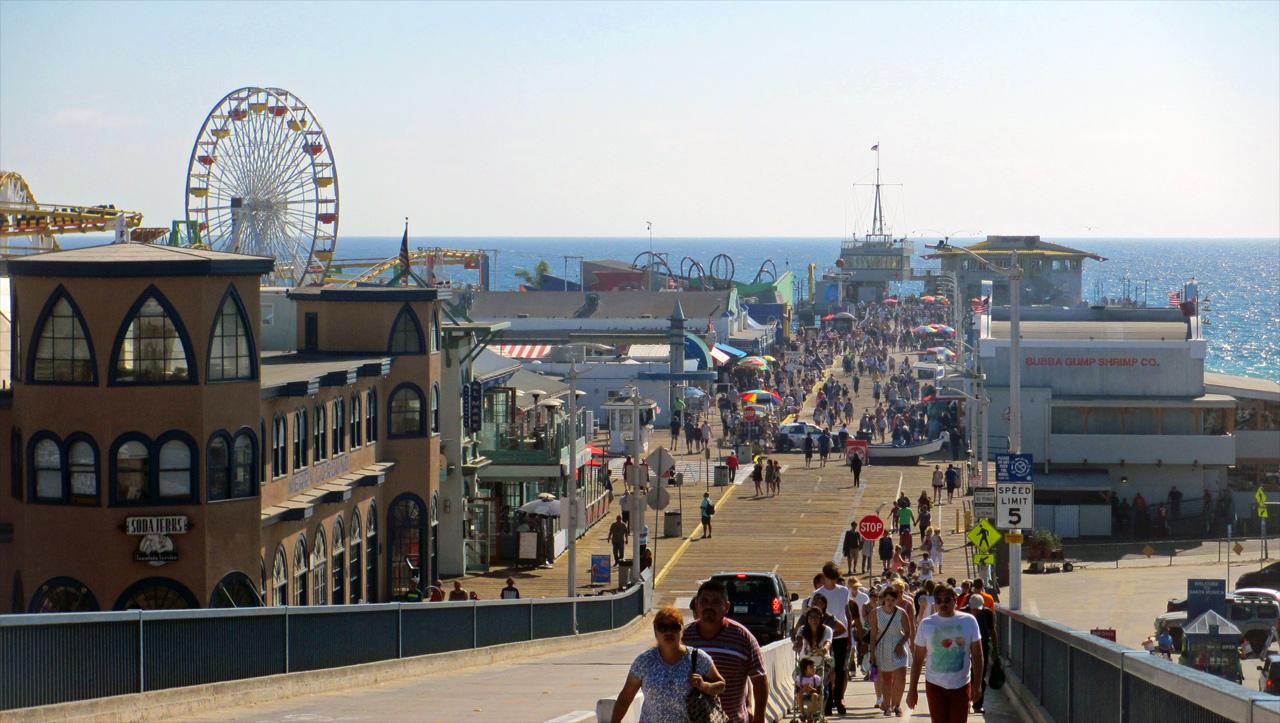 Blick auf das Santa Monica Pier. Foto: Christian Hinze