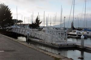 Blick auf den Yachthafen vom Marina Drive