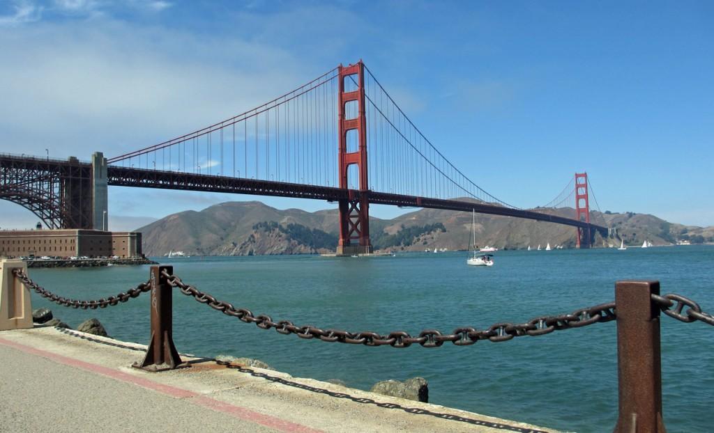 Unterwegs auf dem Marine Drive: Die Golden Gate Bridge