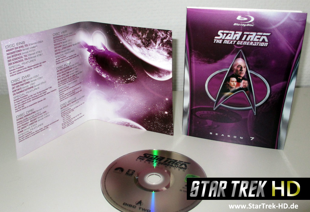 Star Trek: The Next Generation Season 7 Blu-ray Artwork
