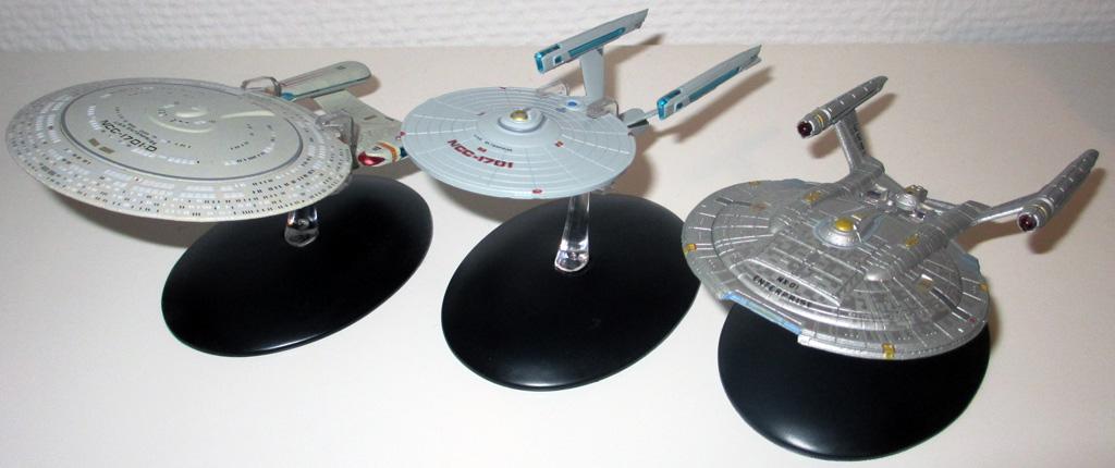 Die Enterprise Modelle im Größenvergleich.