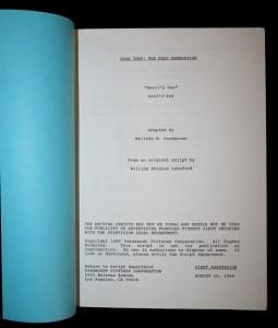 Die erste Adaption des Originaldrehbuchs von Melinda M. Snodgrass