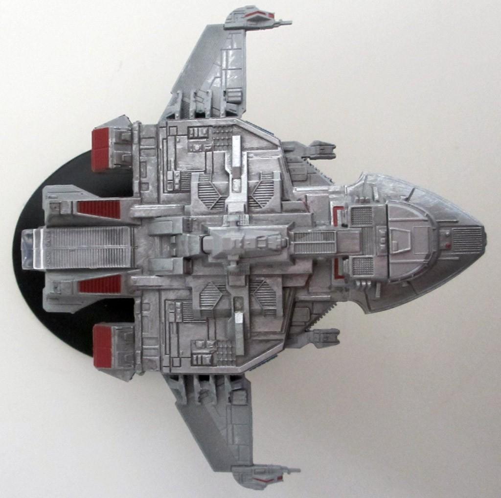 Der Maquis-Raider aus Star Trek: Voyager von oben.