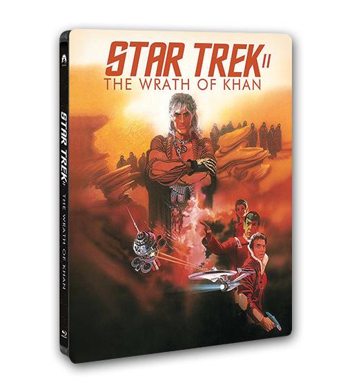 Das Steelbook von Star Trek II zeigt ein Filmplakat von 1982.