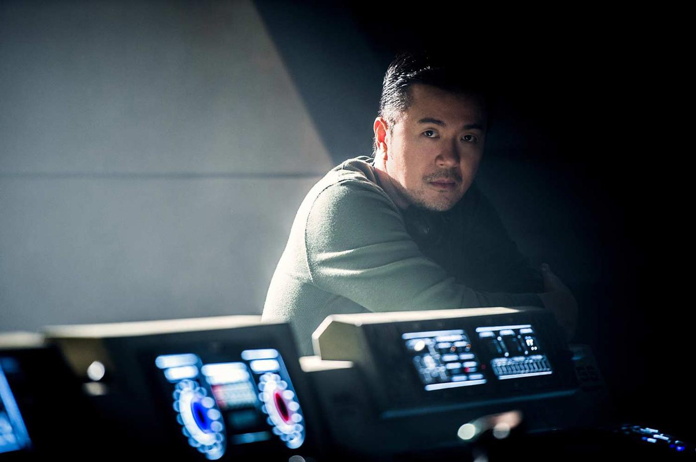 Regisseur Justin Lin auf dem Set der USS Franklin (Foto: Paramount Pictures)