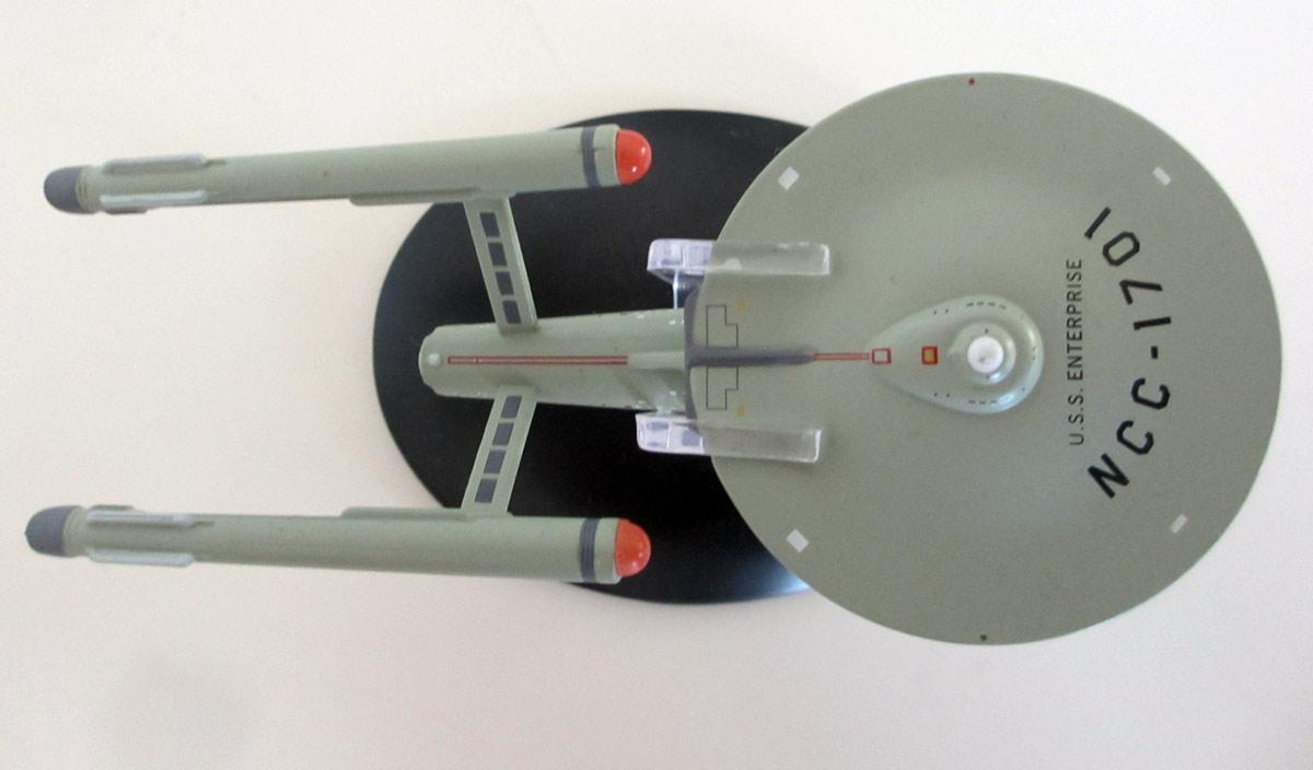 Die U.S.S. Enterprise von oben.