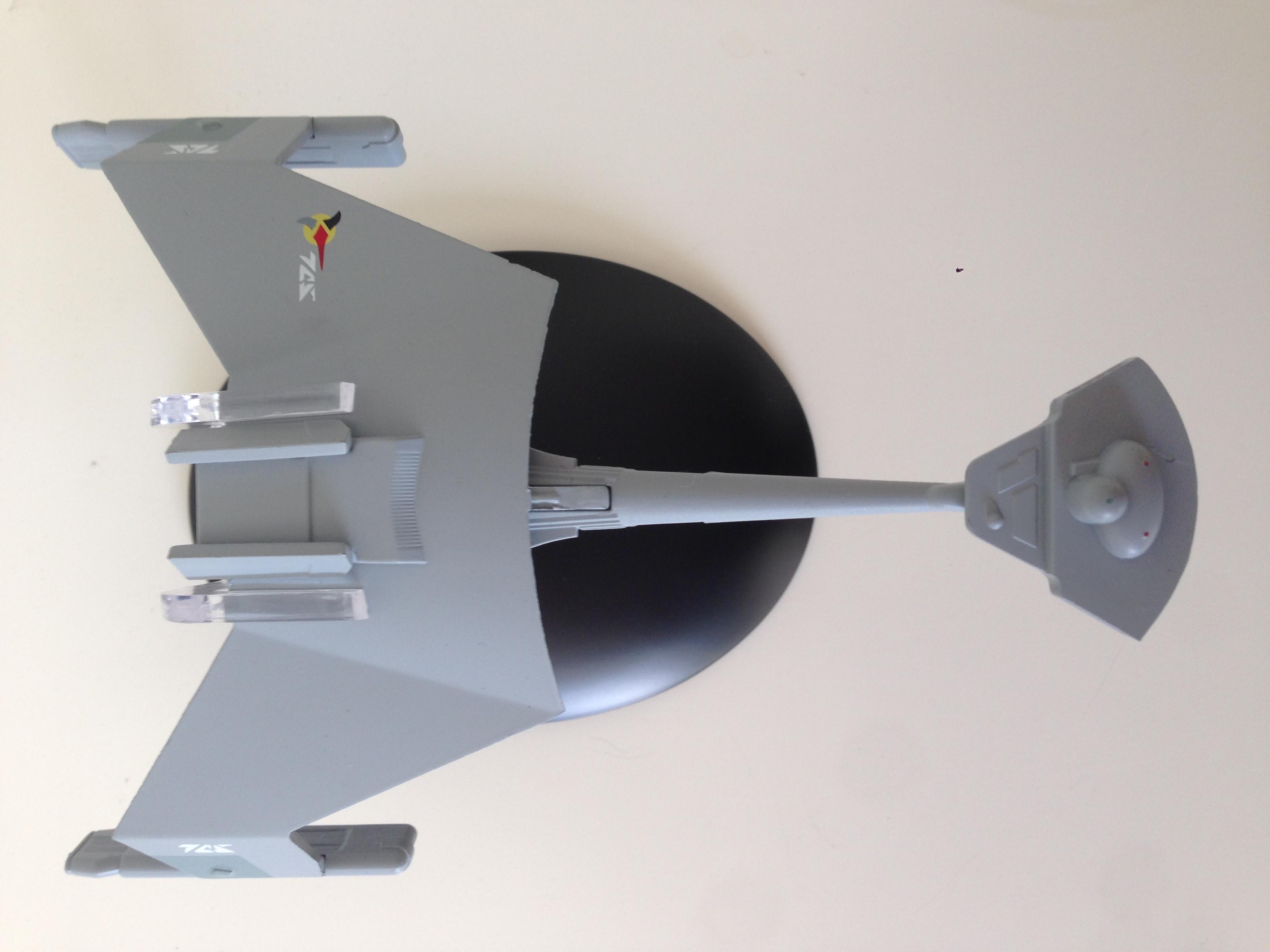 Klingonischer D7-Kreuzer von Eaglemoss Collections (Foto: Star Trek HD)