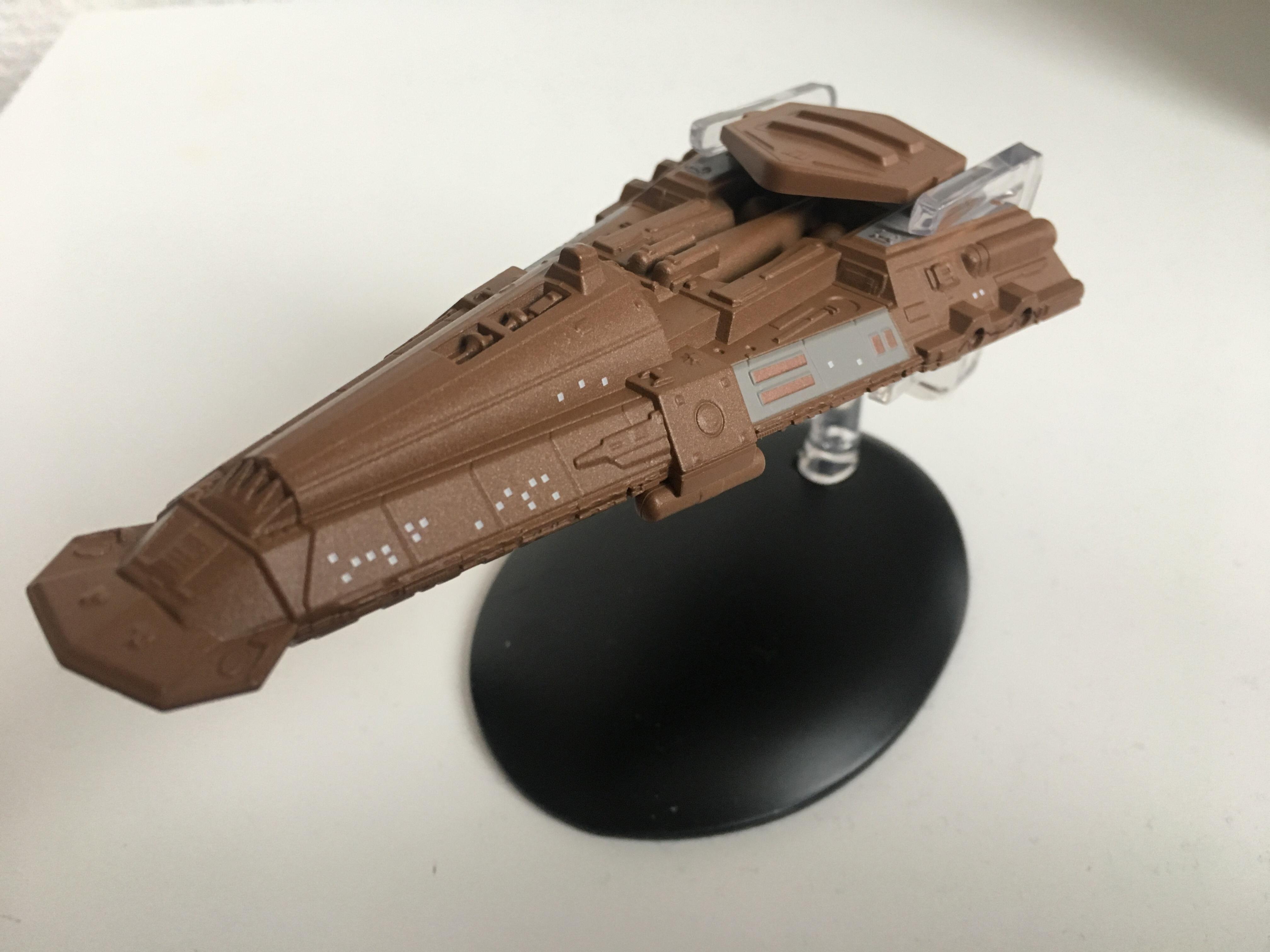 Das Modell des bajoranischen Frachters kam viele Mal in der Star Trek Produktion zum Einsatz. Foto: Star Trek HD