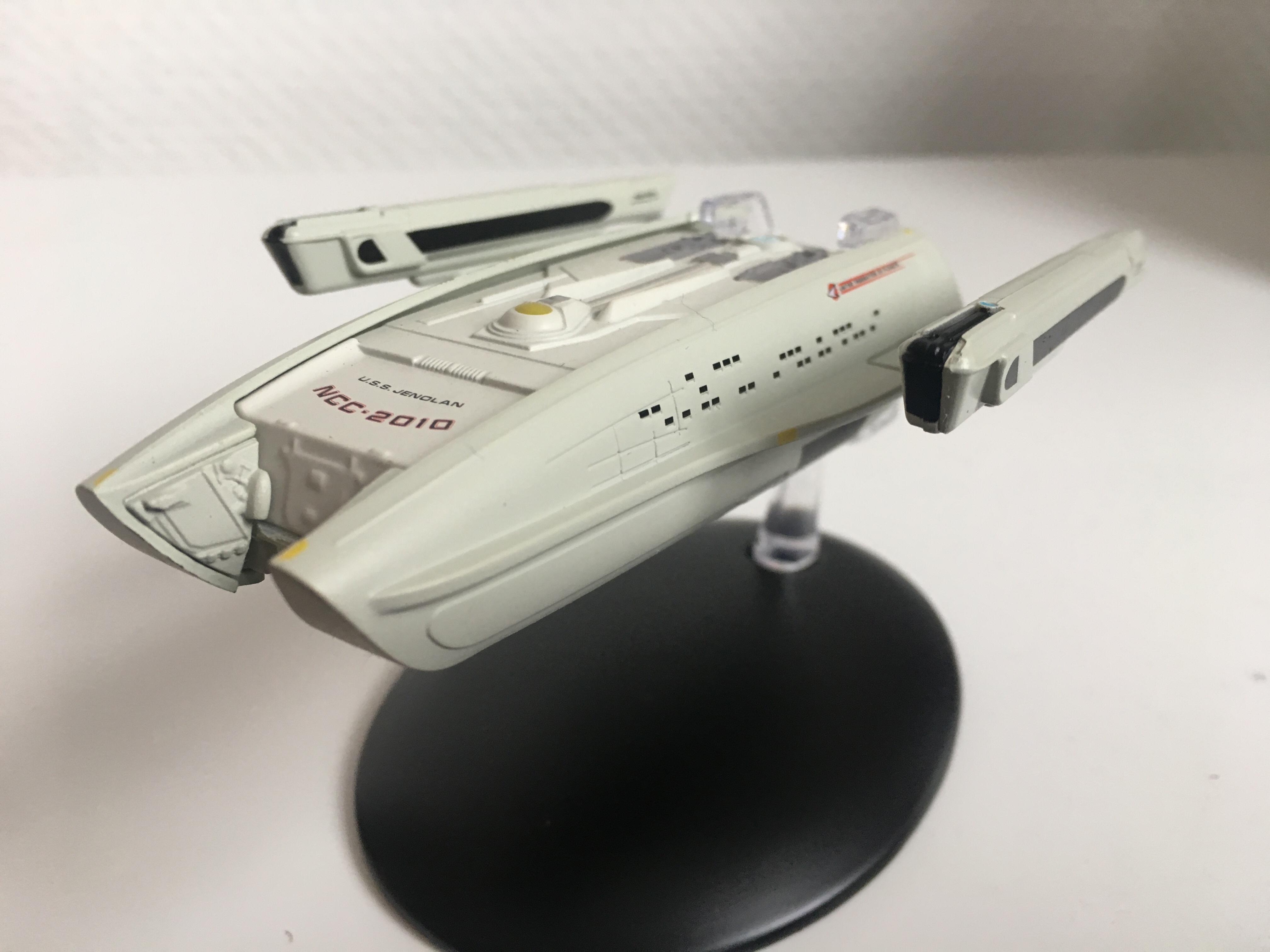 Das Föderationsschiff USS Jenolan von Eaglemoss Collections. Foto: Star Trek HD