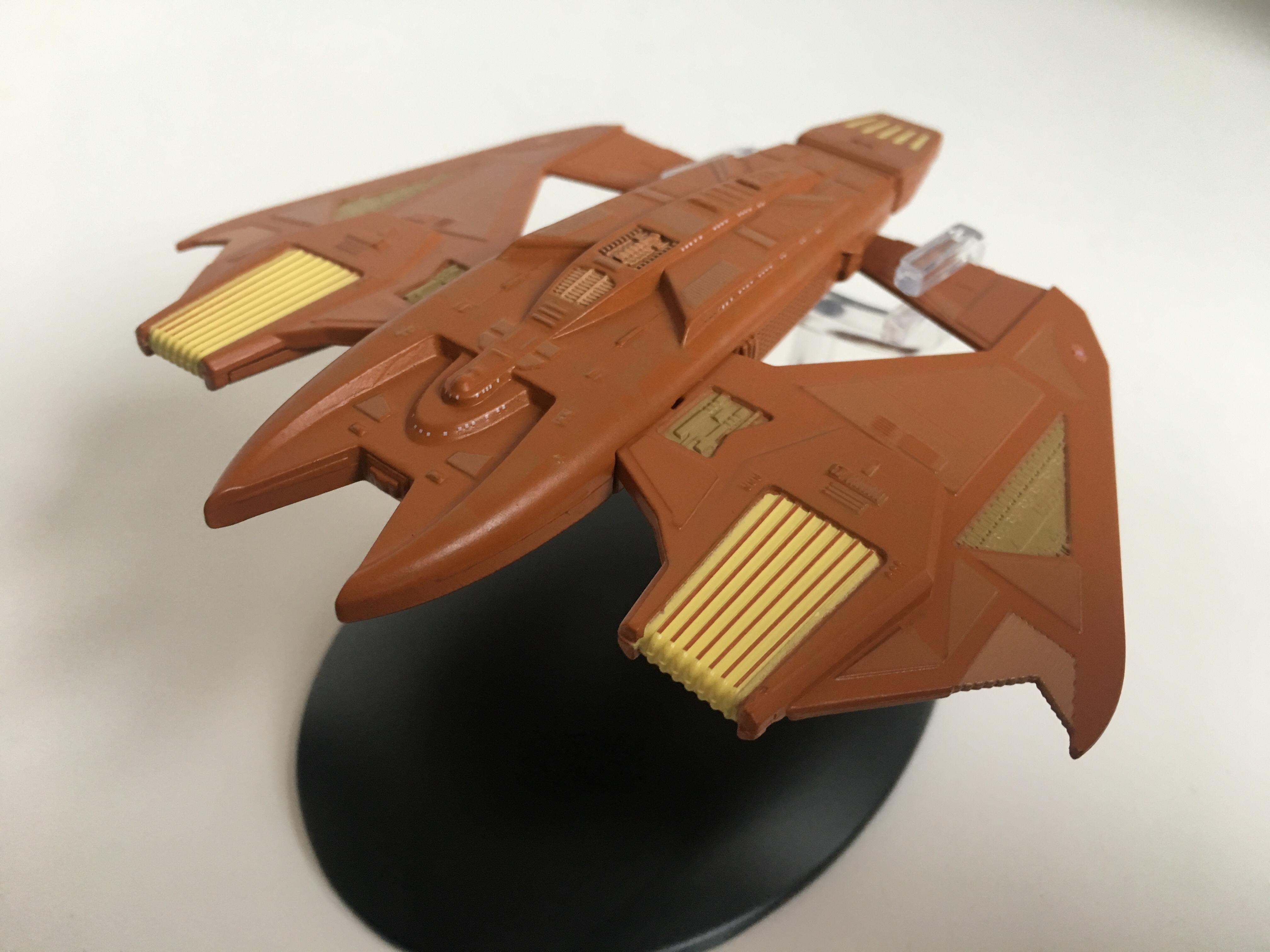 """Das Kriegsschiff der Vidiianer kam in der Voyager-Folge """"Entscheidungen"""" zum Einsatz. Foto: Star Trek HD"""