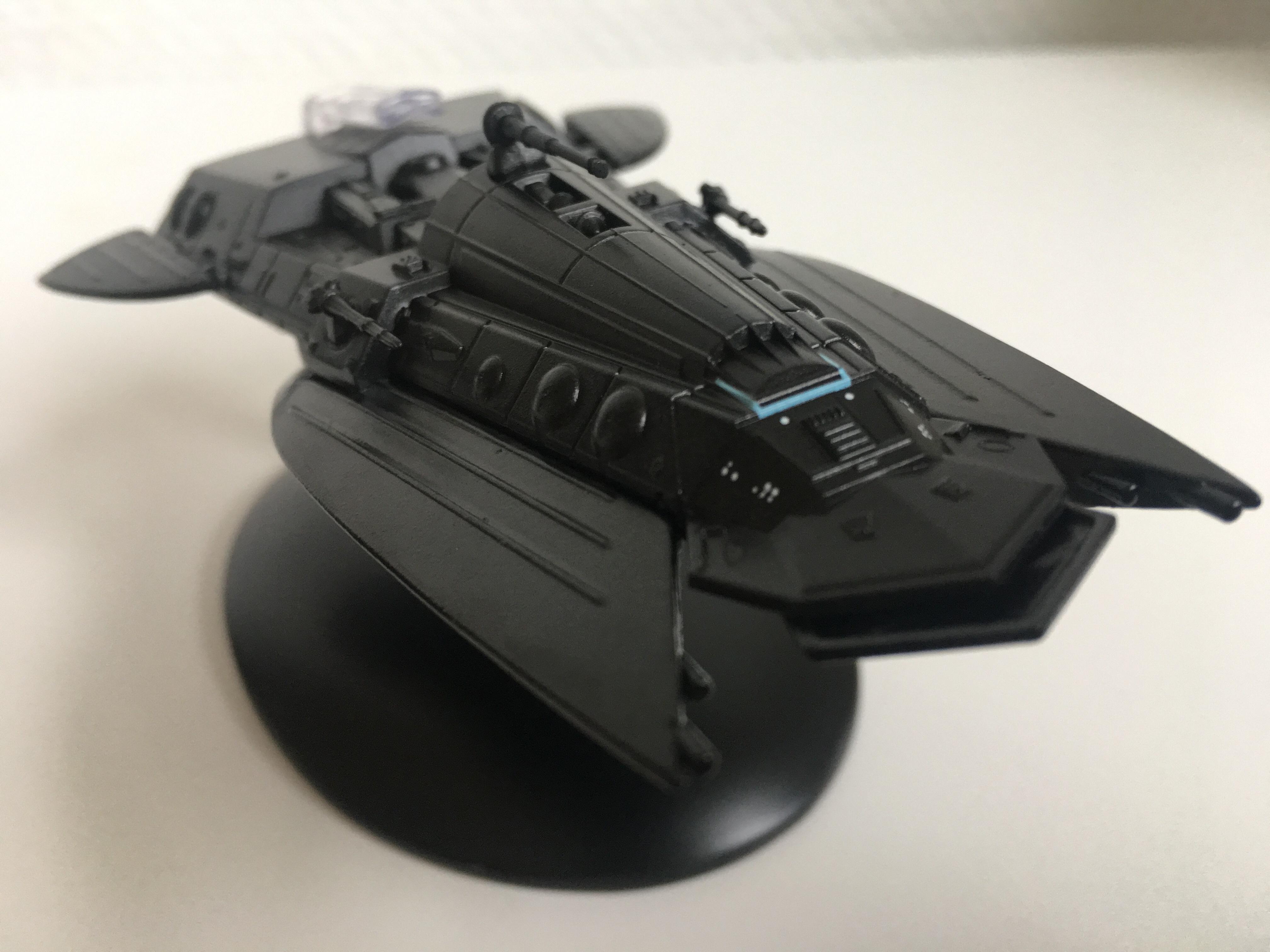 Das Schmuggler-Schiff wirkt auf dem ersten Blick bedrohlich. Foto: Star Trek HD