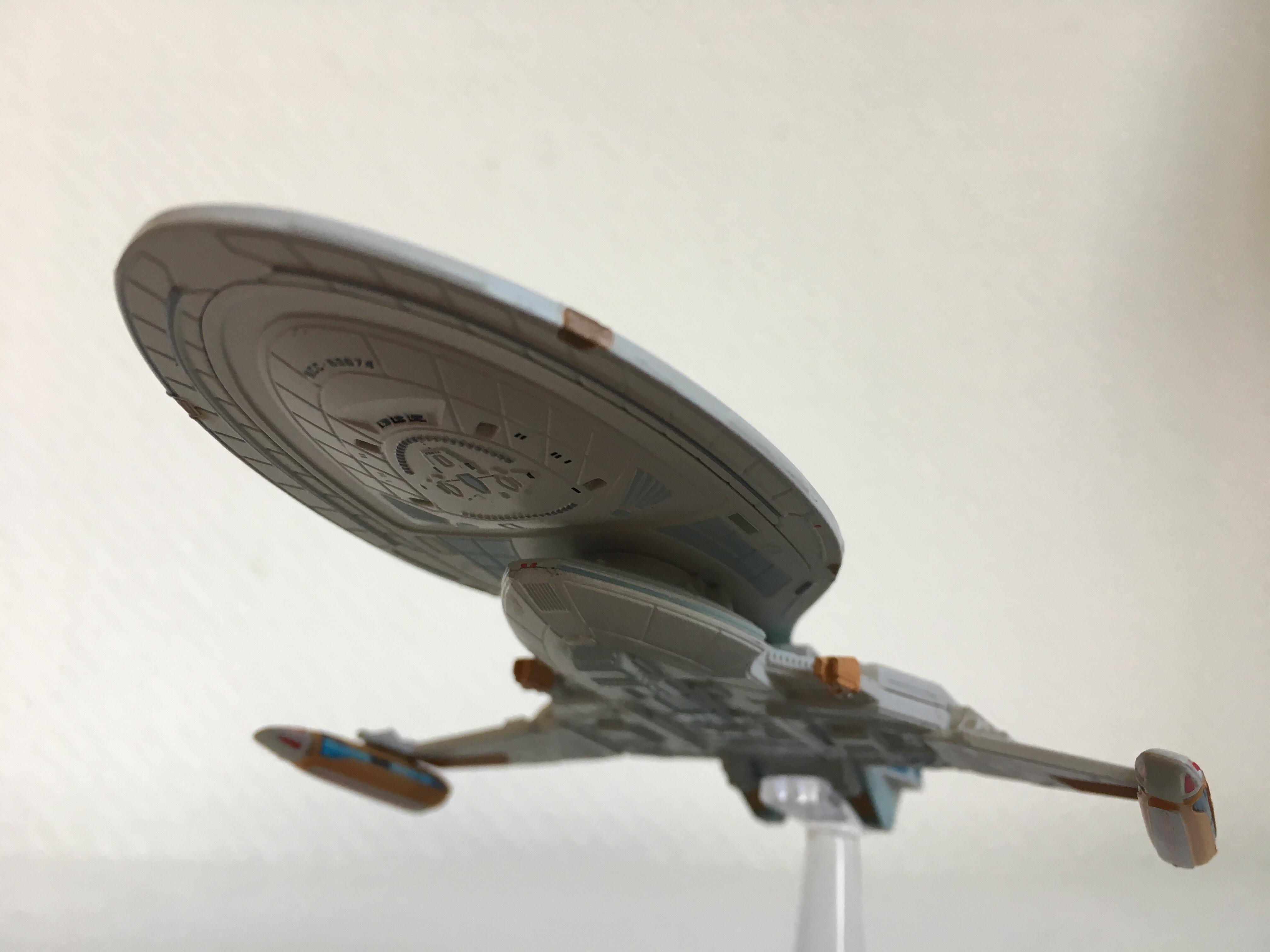 Die USS Yeager - ein Kitbash aus Maquis-Raider und Intrepid-Klasse. Foto: Star Trek HD