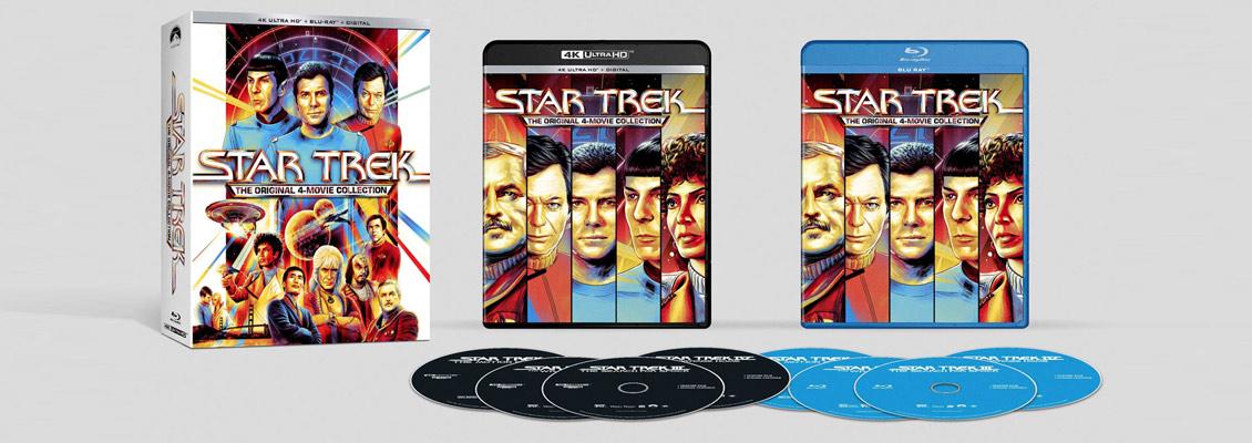 Star Trek - Die ersten vier Kinofilme auf 4k Ultra HD Blu-ray